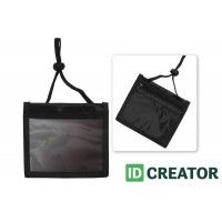 3-Pocket ID Holder with Cord and Adjustable Cord Lock