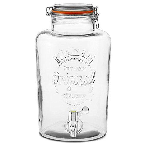 Kilner Garden Party Glass Water & Punch Drinks Dispenser (8 Litres): Amazon.co.uk: Kitchen & Home
