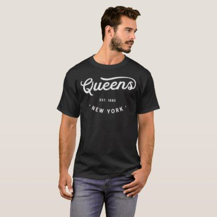 Vintage Classic Retro Queens New York City Novelty T-Shirt - classic gifts  gift ideas diy custom unique 091cc37812d