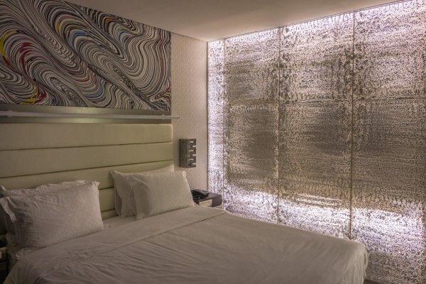 Transluzenter Beton als Trennwand zw Schlafzimmer und Bad in einem ...