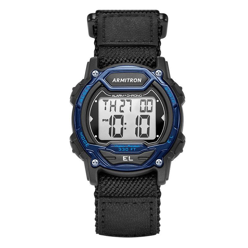 Armitron Unisex Black Strap Watch45/7004blu Armitron