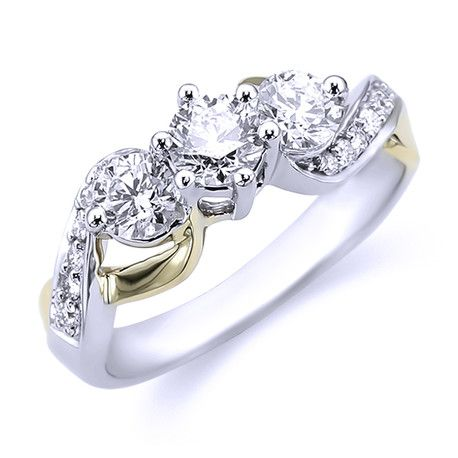 Three Stone Diamond Engagement Ring Andrews Jewelers Buffalo NY