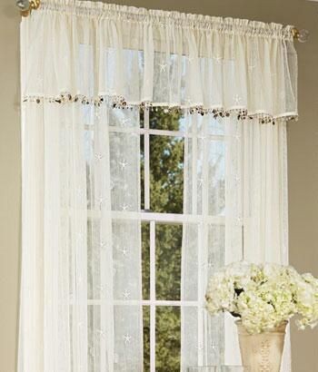 Window Toppers Seaside Lace Trimmed Valance Country Curtains