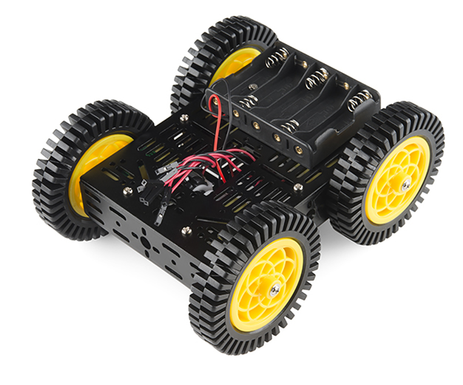 DIY 4WD Chassis Material Set Vehicles Model Four-wheel-drive Car Assembly Toy MA