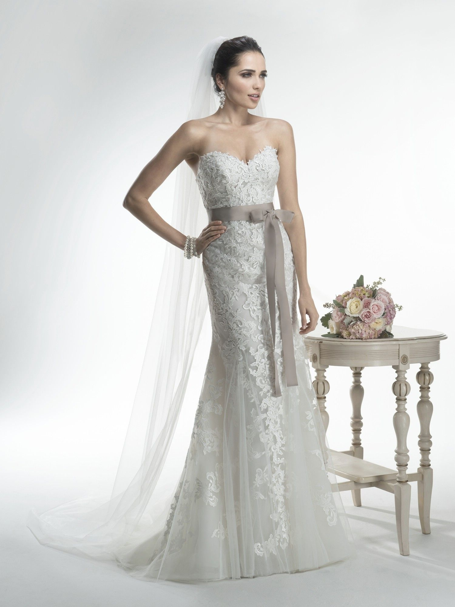Maggie Sottero Wedding Dresses - Style Annette. Looks good without ...