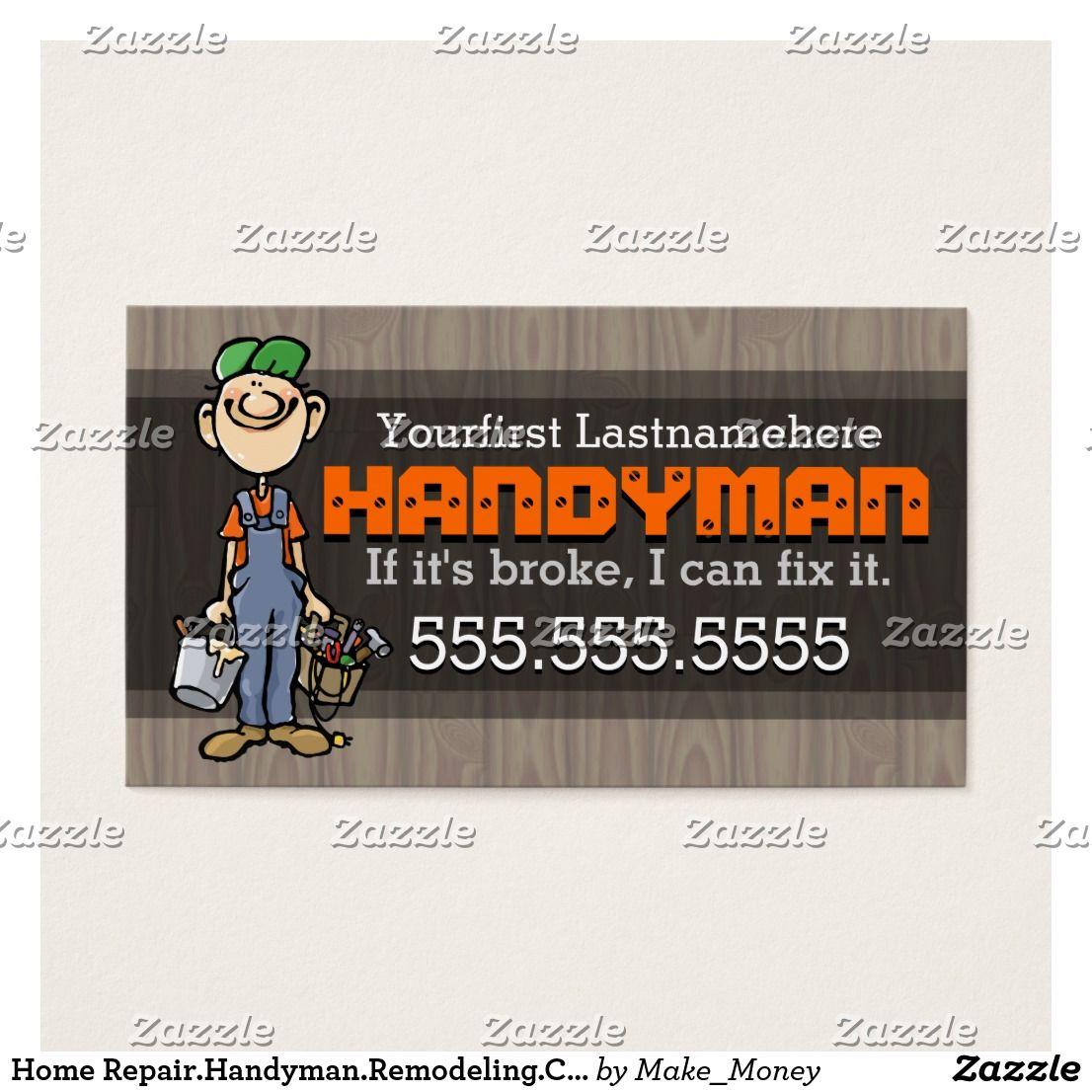 Home Repair.Handyman.Remodeling.Carpenter.Painter Business Card ...