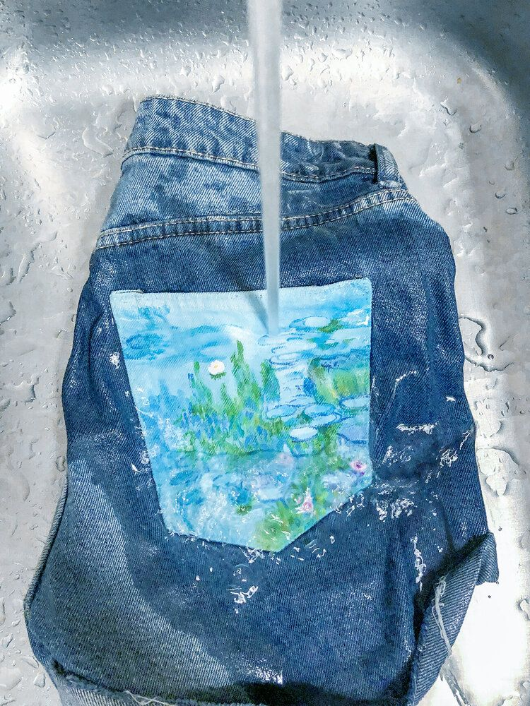Denim Painting 101 How to Wash Painted Denim in 2020