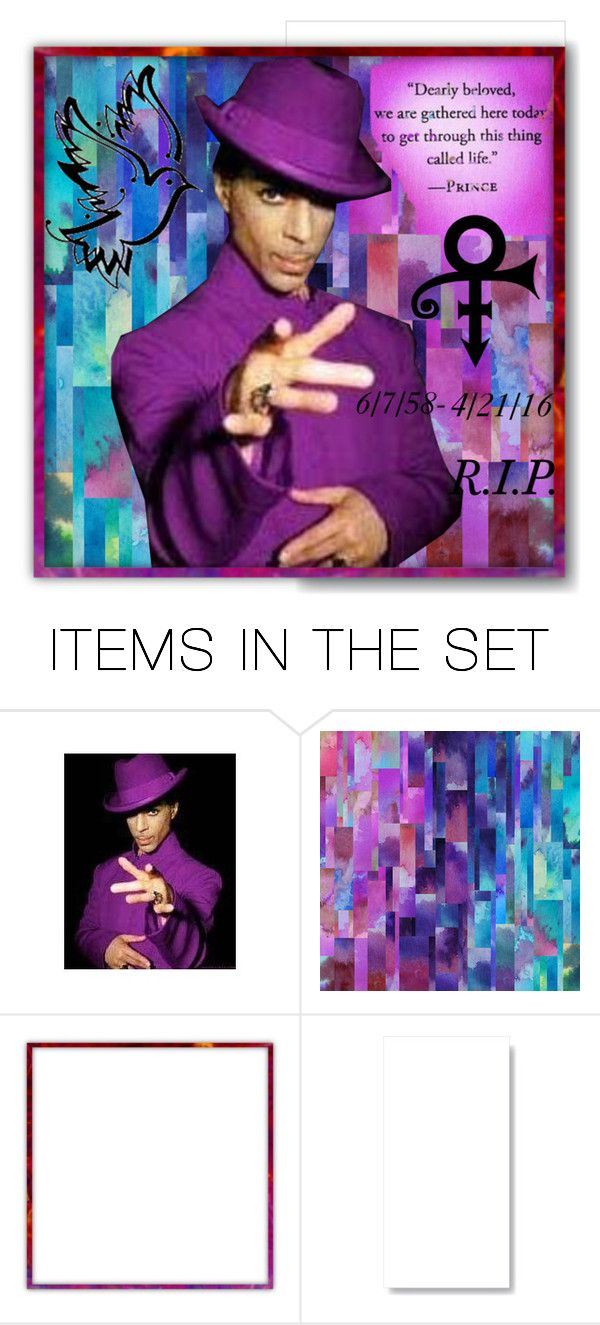 """""""R.I.P. Prince"""" by kyckastra ❤ liked on Polyvore featuring art"""