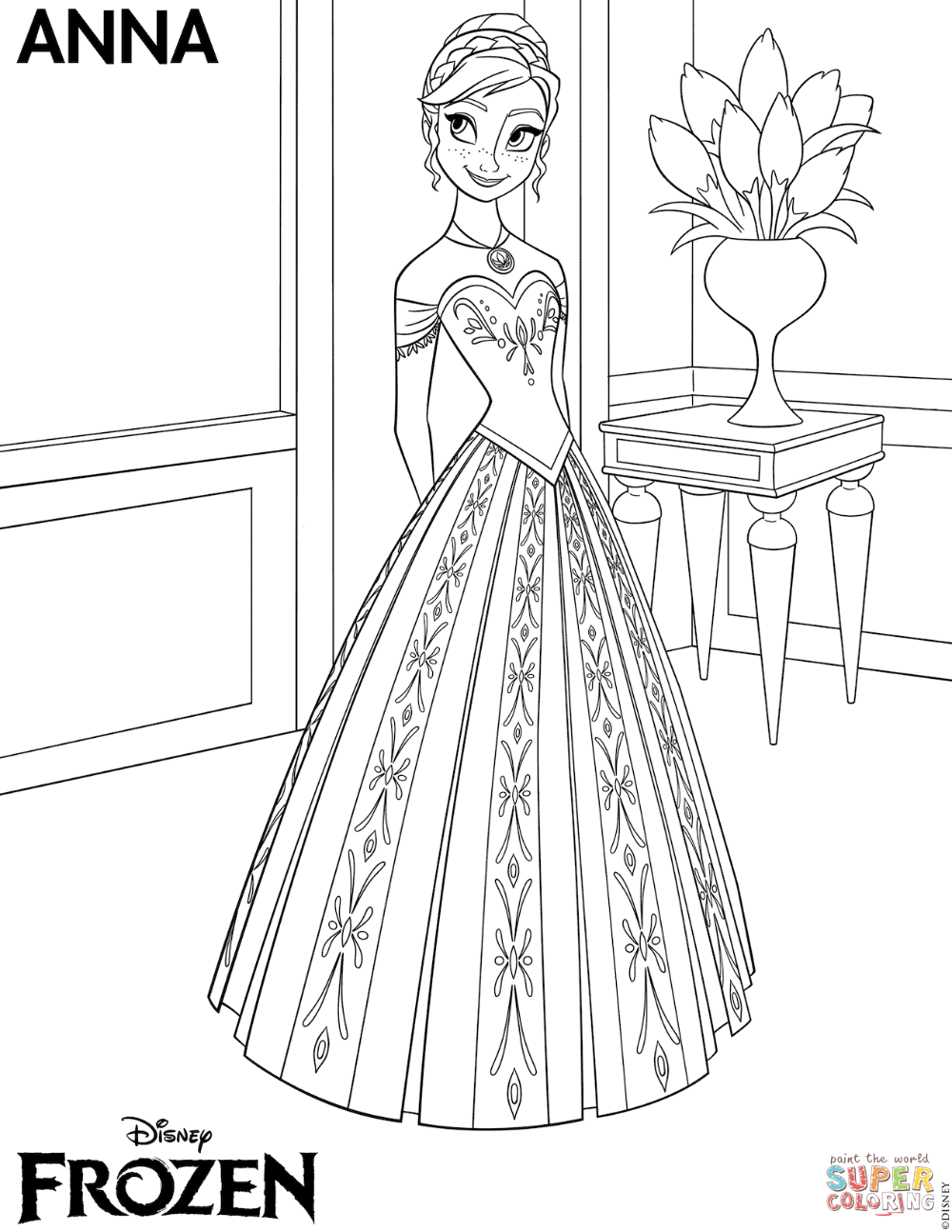 Frozen Anna Coloring Page Free Printable Coloring Pages In 2020 Frozen Coloring Pages Elsa Coloring Pages Frozen Coloring Sheets