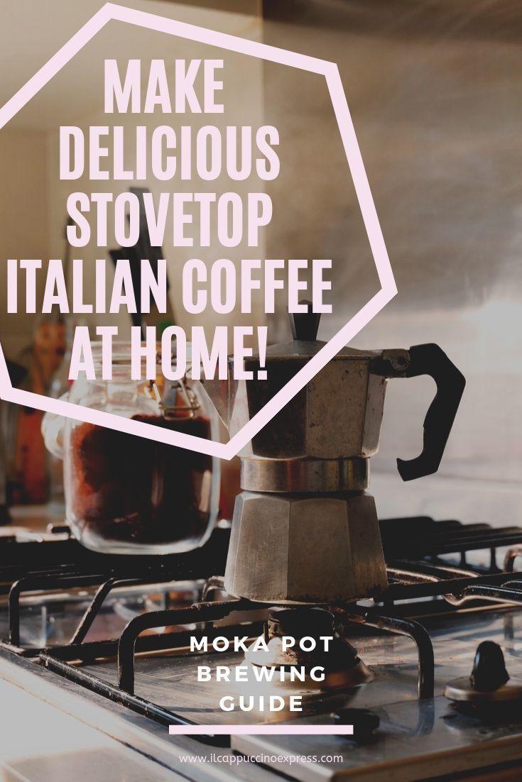 How To Make Italian Coffee: Steps To Delicious Moka Pot Coffee Brew #espressoathome