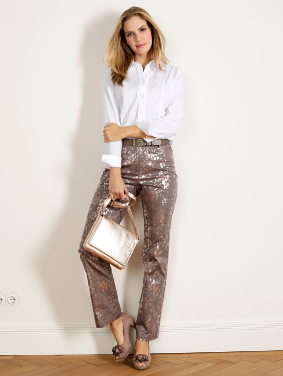 Hose Paola straight   Elegante mode, Hosen und Damenbekleidung
