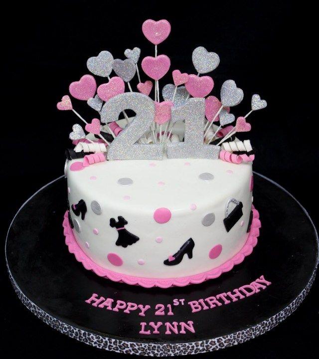 Miraculous 28 Cheap 21St Birthday Cakes Taart Ideeen Taart Funny Birthday Cards Online Alyptdamsfinfo