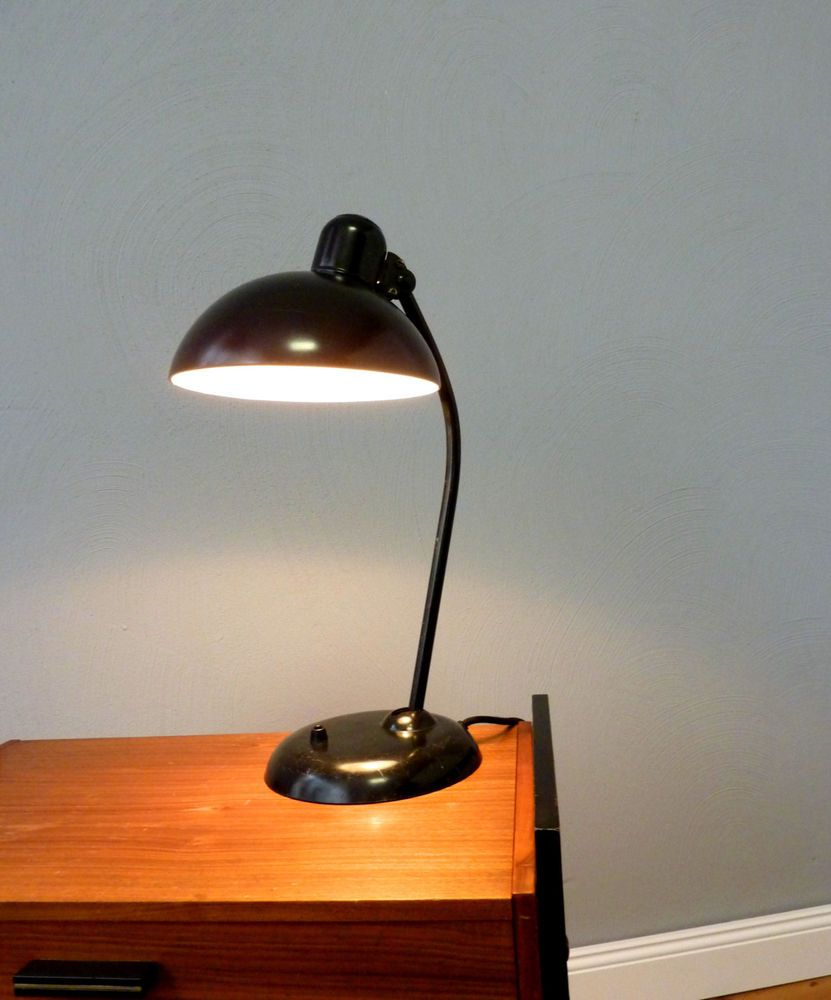 Original Kaiser Idell Lampe Tischleuchte Schwarz 6556 Industrie ...