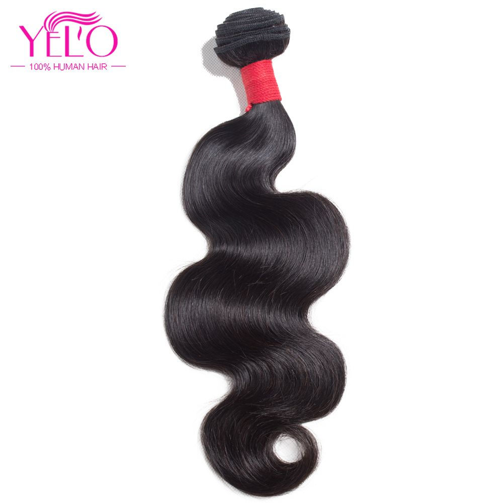 Yelo Hair Peruvian Body Wave Hair Bundles 1 Piece Non Remy Human