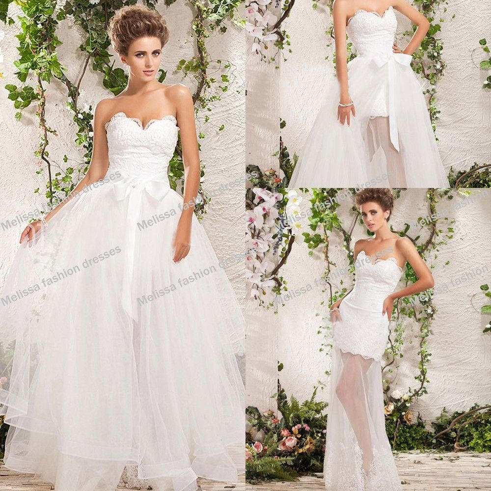 An elegant collection of wedding dresses with detachable skirt an elegant collection of wedding dresses with detachable skirt ombrellifo Images