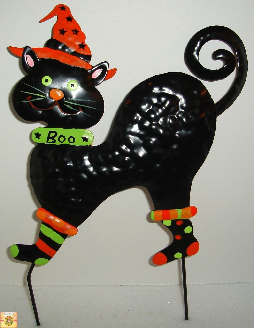 Wall Hanging Black Cat Sign Wreath Attachment Yard