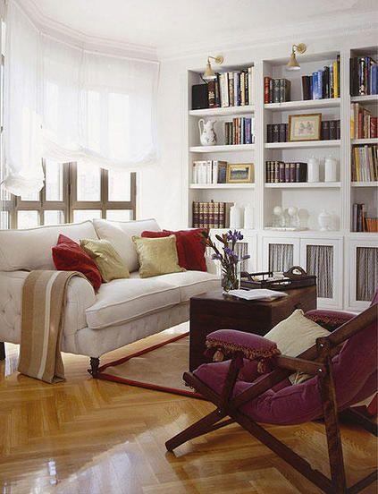 Librer as bien elegidas ideas para el hogar - Librerias salon blancas ...