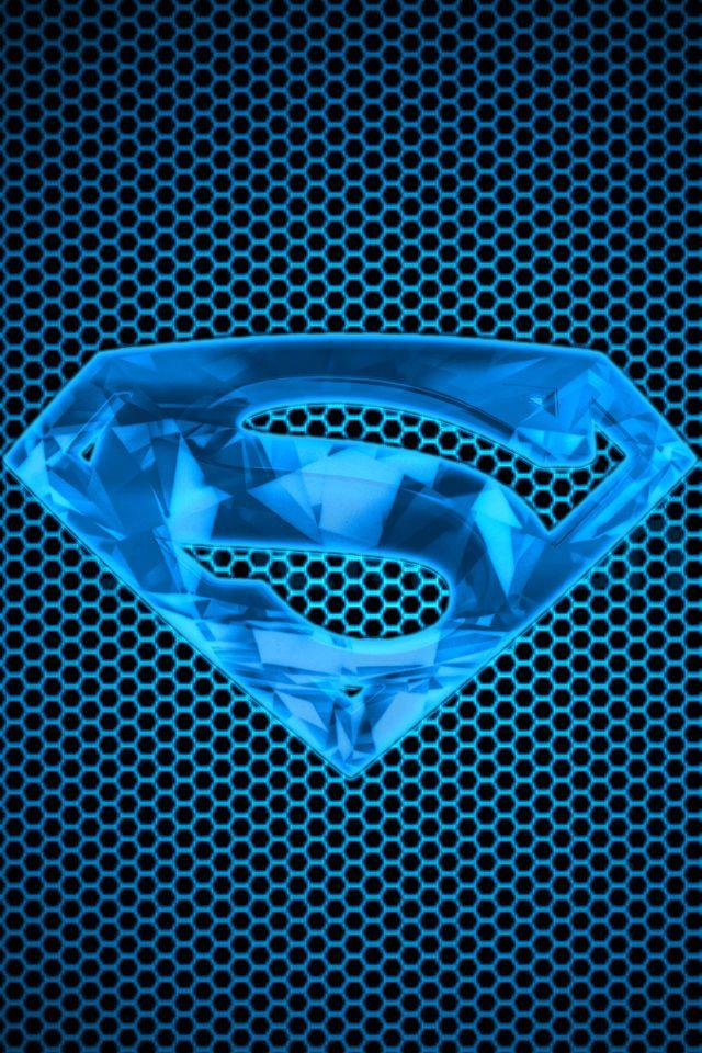 Blue Kryptonite S Shield Background By Kalel7 Superman Wallpaper Logo Superman Wallpaper Superman Art