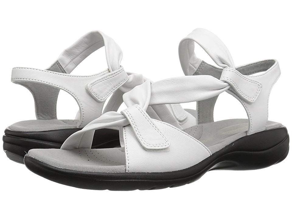 36d3426724f Clarks Saylie Moon (White Leather) Women s Sandals. The Saylie Moon is part  of