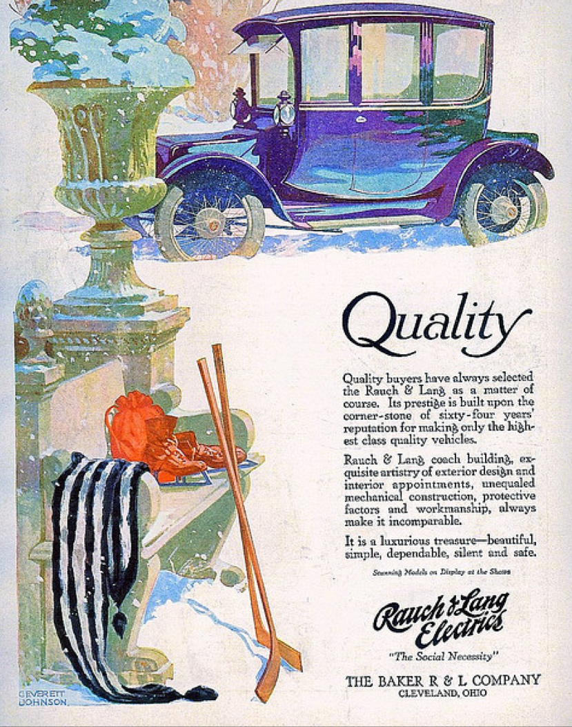 The Gorgeous Ilration For This Circa 1910 Baker Electric Ad Is Signed C Everett Johnson Who Was A Painter And Commercial Artist