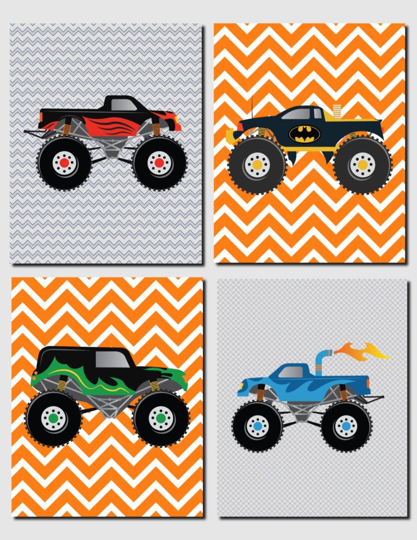 Trucks Wall Art Nursery Art Kids Wall Art Toddler Boys