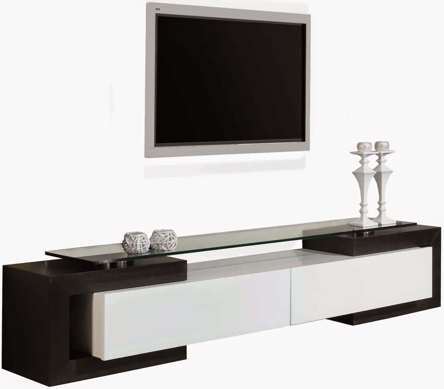 Beau Meuble Tv Noir Blanc D Coration Fran Aise Pinterest  # Meuble Tv Rotin
