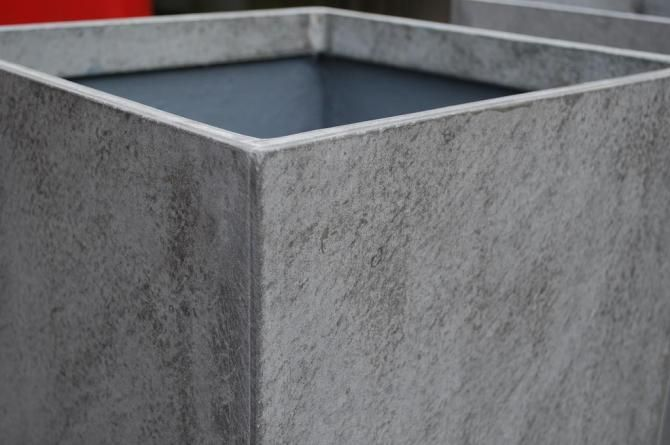2er set blumenk bel pflanzk bel aus beton faserbeton block 60cm blumenk bel aus faserbeton. Black Bedroom Furniture Sets. Home Design Ideas