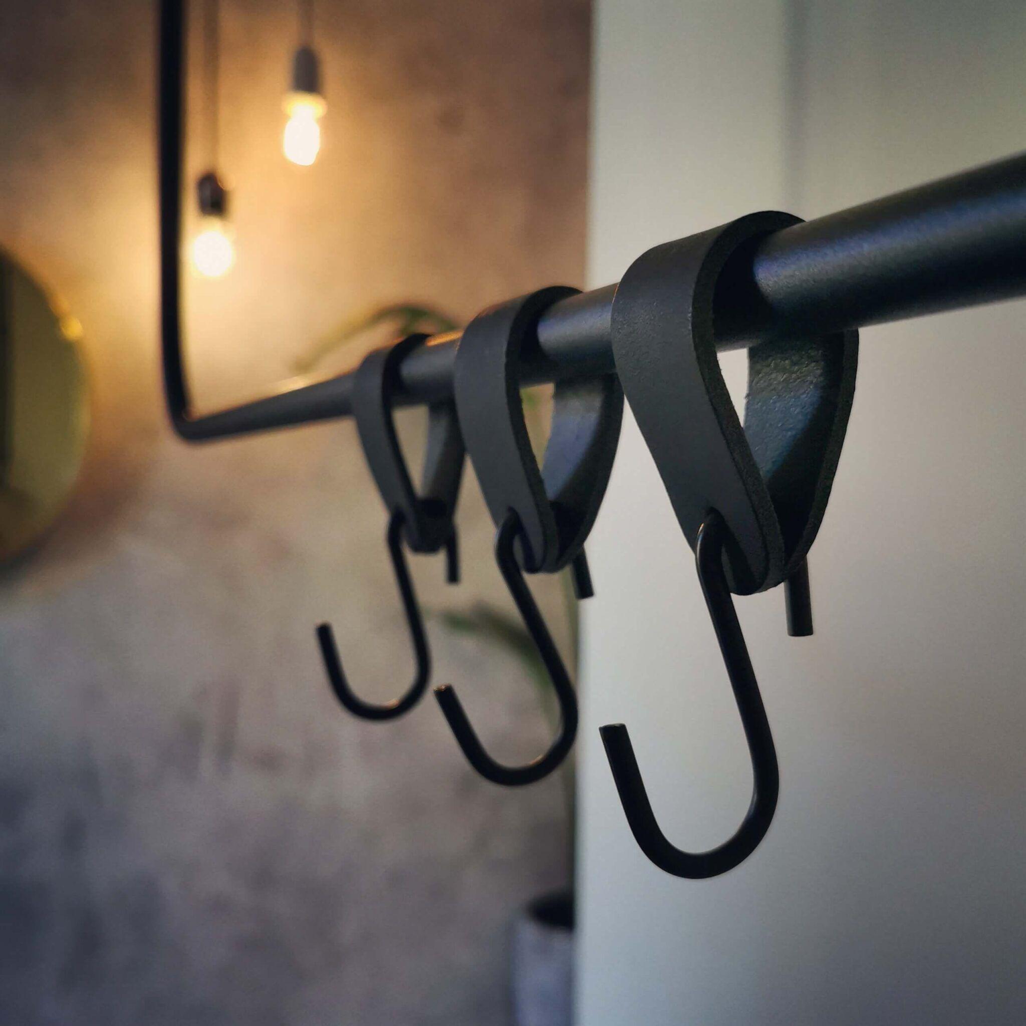 Leren S Haak Hangers Set Van 2 Handles And More Kapstok Halletje Inrichten Hanger