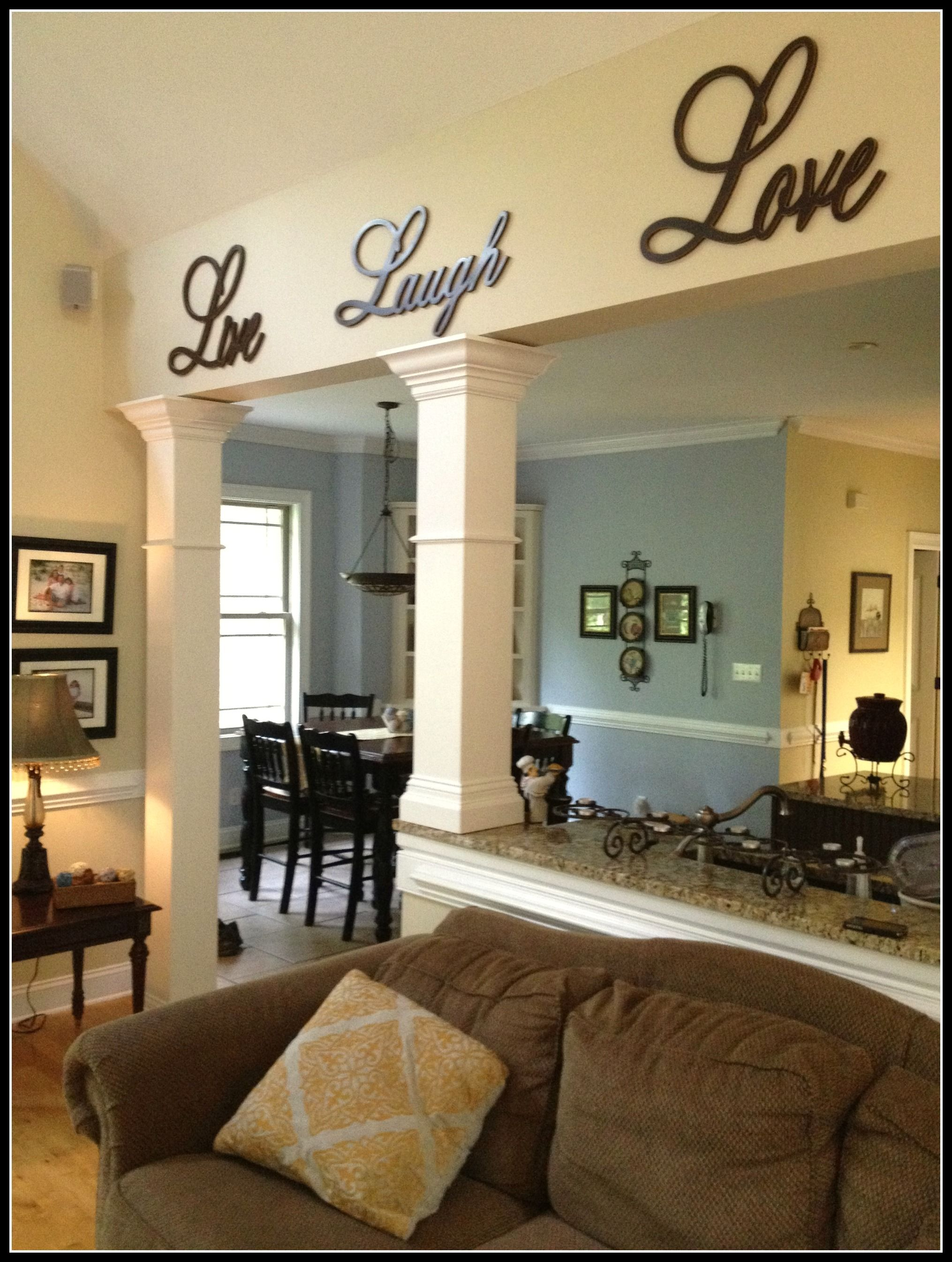 Kitchen And Living Room Designs Check Out These Hand Built Columns In The Kitchen Entry Way Plus