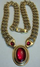 Vintage Napier Necklace Red Gripiox MASSIVE HEAVY Haute Couture RUNWAY MUST HAVE