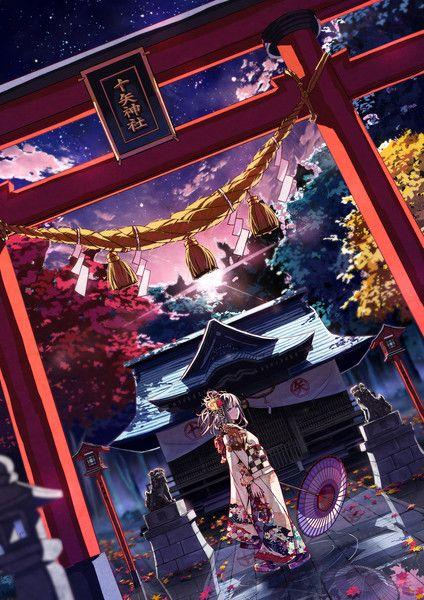 和服 イラスト Google 検索 美しいイラスト イラスト 神社