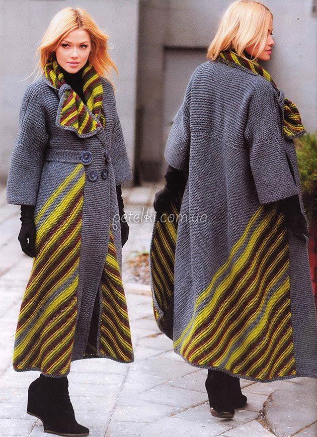 Необычное пальто от Светланы Волкодав. Описание, схемы ...