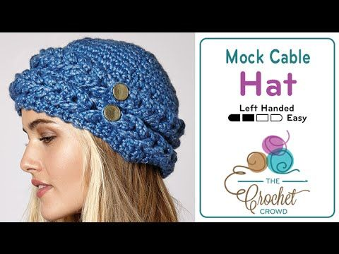 Crochet Mock Cable Hat + Tutorial - The Crochet Crowd | Crocheting