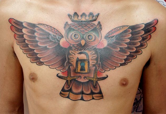 Outstanding Owl Tattoos  Before we get to the images of some amazing owl tattoos let's talk a bit about the owl itself. Owls have long been thought to be wise and somewhat mysterious creatures. In ancient Greek mythology, the Goddess of wisdom Athena favored owls greatly and she is often depicted with them.
