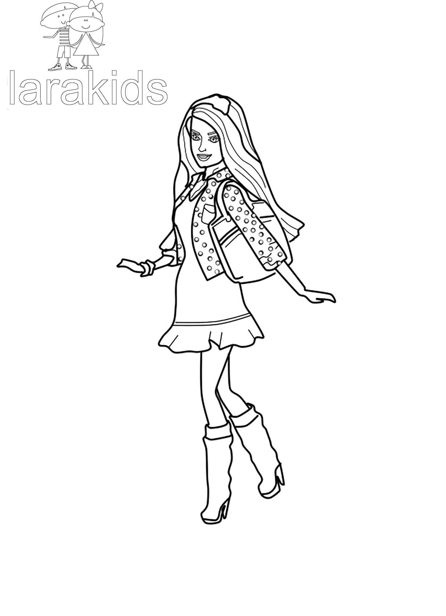 """Drucken Färbung """"Barbie Teresa in einem Kleid"""""""