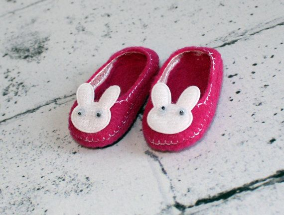 Bunny Rabbit Slippers14.5 in Doll Clothes Fits American Gil Wellie Wishers