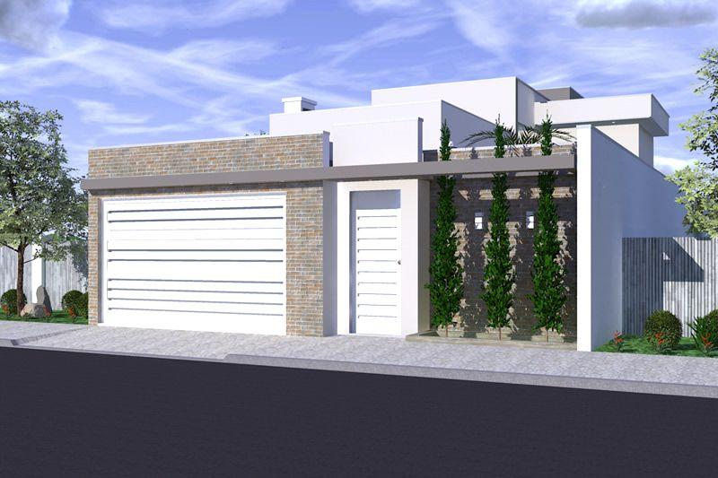 Casas com platibanda terrea pesquisa google fachada de for Modelo de fachada de casa