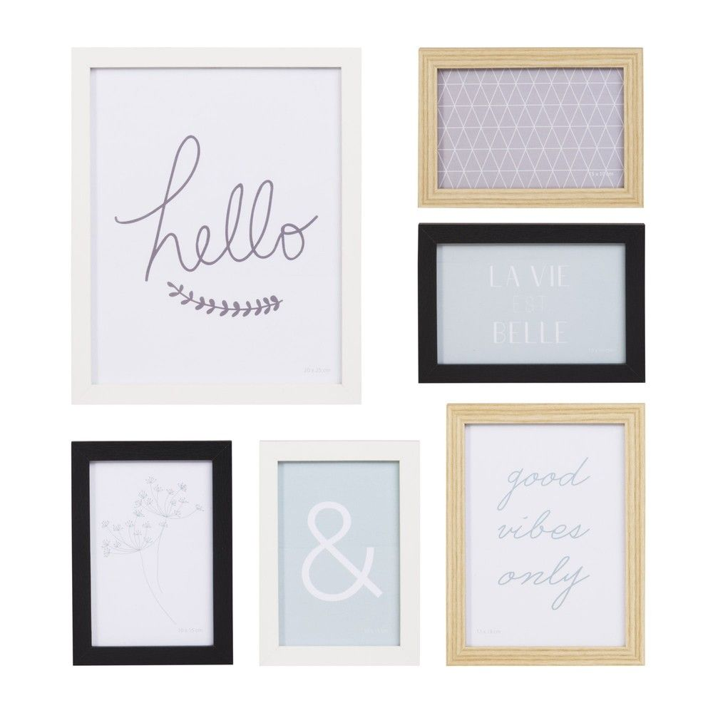 Ensemble 6 Cadres Photos 48x39 Maisons Du Monde Frame Photo Frames Cadre Photo