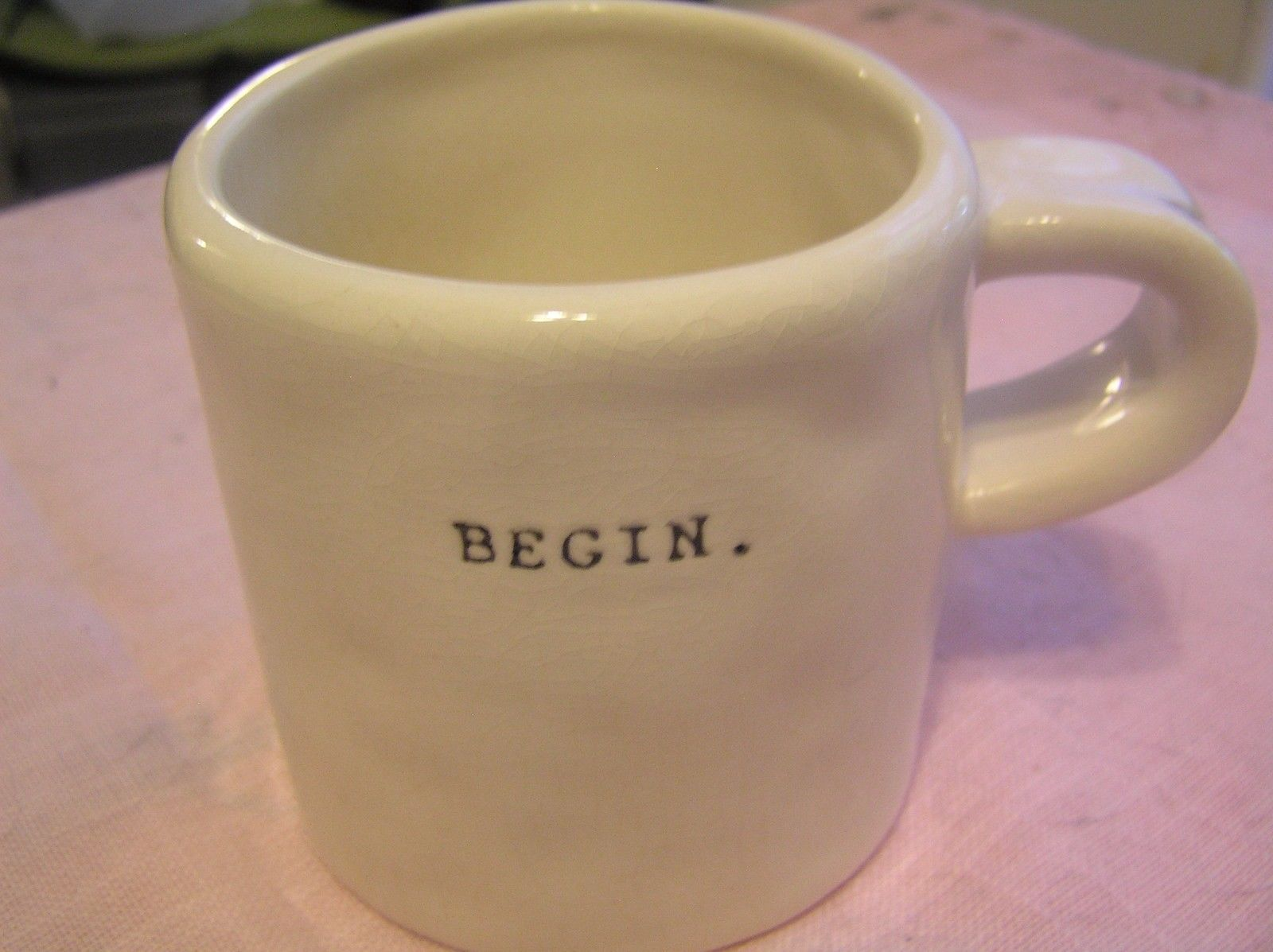 Item Coffee Tea Mug Cup Brand Rae Dunn Magenta Model Begin Is Offered Without