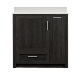 Style Selections Bath Vanity Black Walnut 36 In Undermount Single Sink Bathroom  Vanity With Engineered