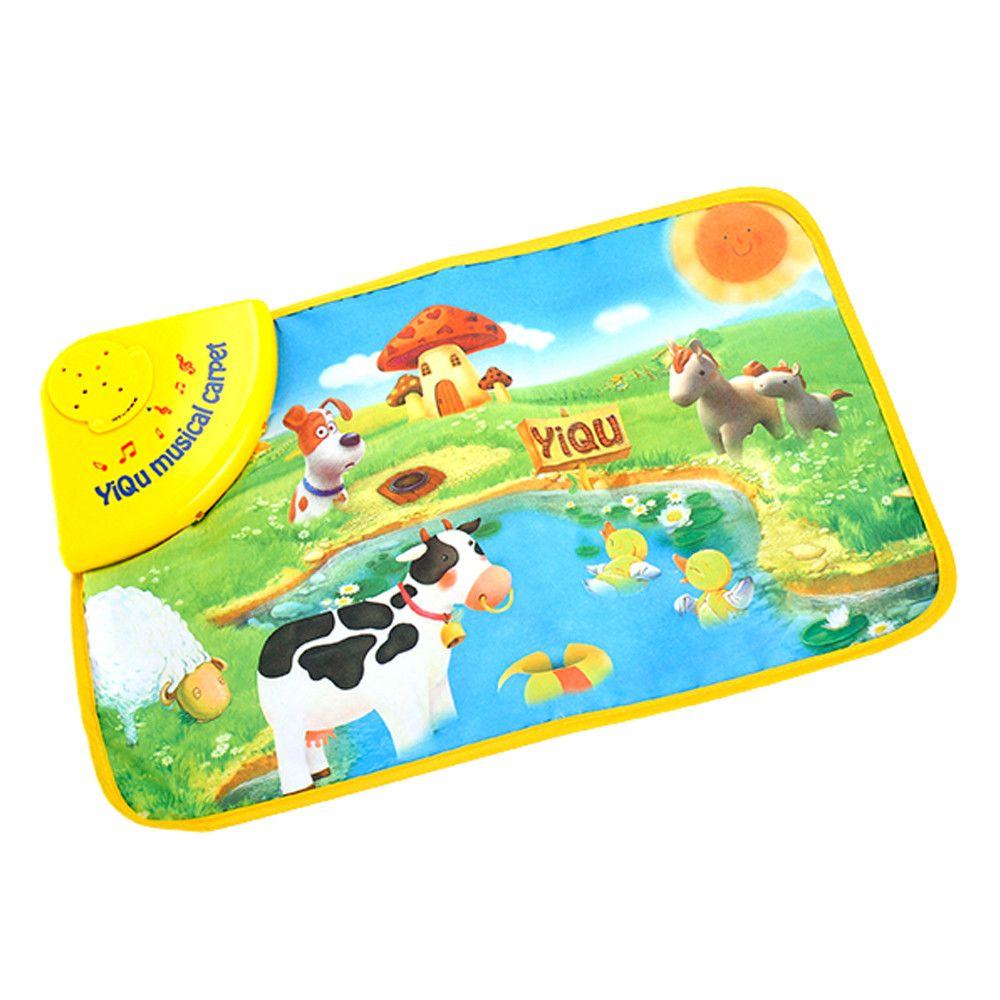 Musical Farm Animal Toy Carpet Educational Play Rug