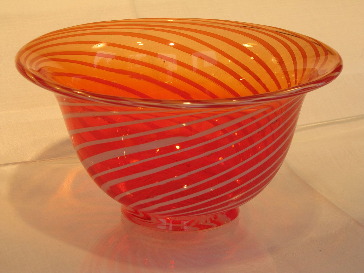 Hand blown red glass bowl with white swirling stripes bowls hand blown red glass bowl with white swirling stripes reviewsmspy