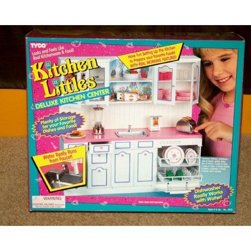 Amazon Com Kitchen Littles Deluxe Kitchen Center With Real