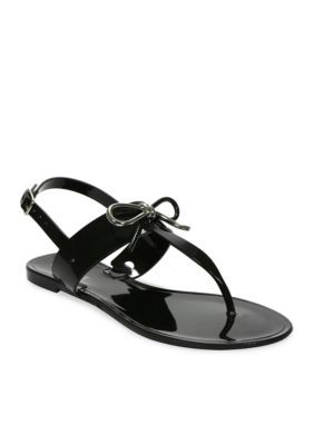Tahari Women's Jay Jelly Bow Sandal - Black - 10M   Bow sandals and Products