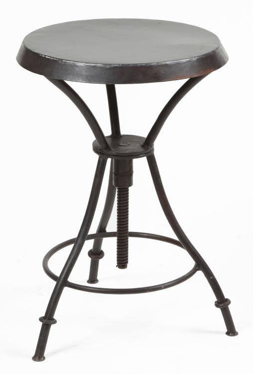 Industrial backless bar stool