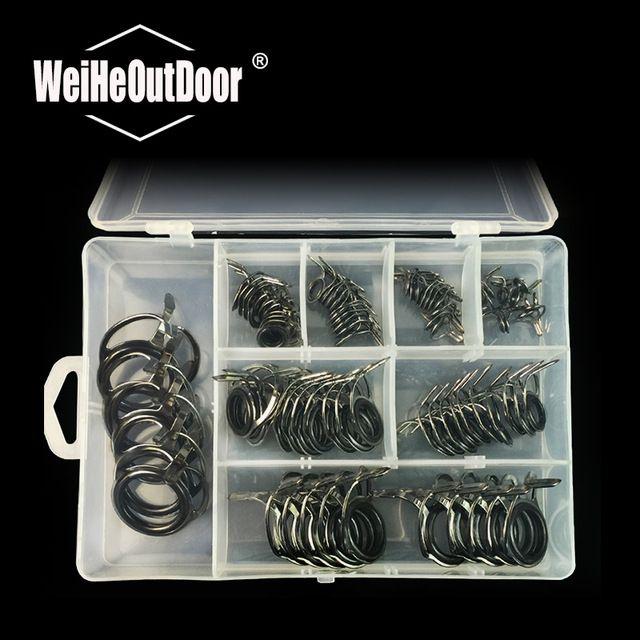 75pcs//Set Lure Fishing Rod Guides Kits Fishing Rod Accessories Repair Tools