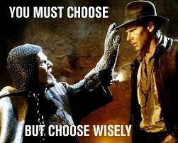 Image result for indiana jones choose wisely