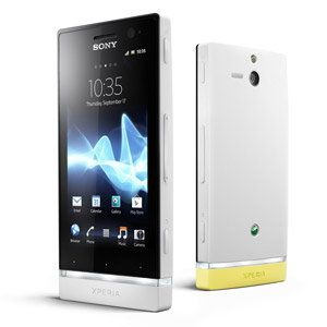 Smartphone Outlet smartphone : sony xperia u st25a-bp white/yellow | tech