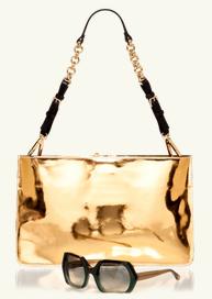 Shoulder bag in laminated calfskin- Marni