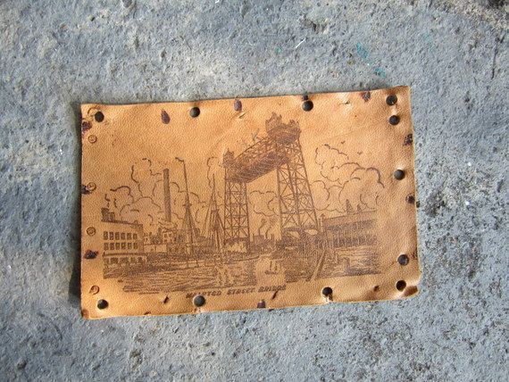 Vintage Leather Post Card by teamshana on Etsy, $10.00